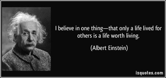 einstein lived for others